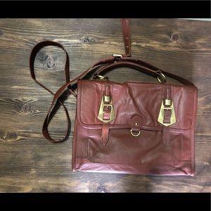 ASOS Mahogany Leather Messenger Bag